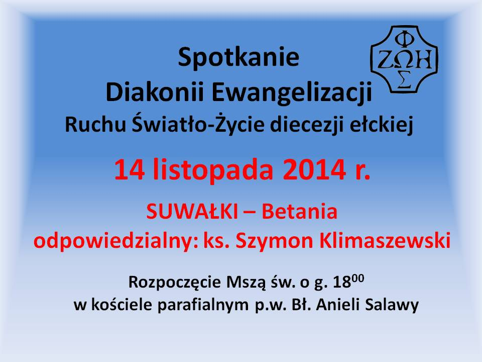 Spotkanie diakonii Ewangelizacji